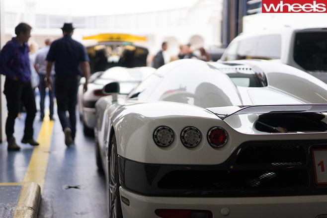 White -Koenigsegg -supercar -rear
