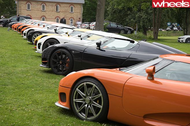 Koenigsegg -supercars -parked