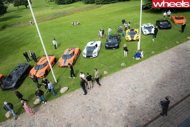 Koenigsegg -supercars -top -side