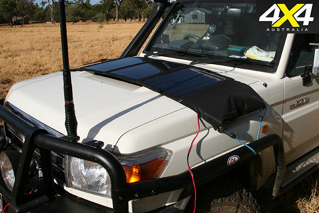 Projecta folding solar panel