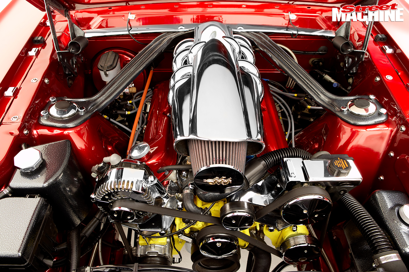 Marshall -Perron -Pro -Touring -Mustang -engine -bay