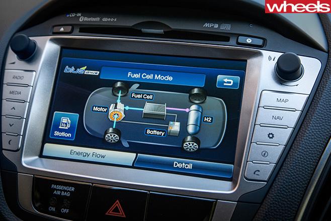 Toyota -Mirai -touchscreen -fuel -cell -system