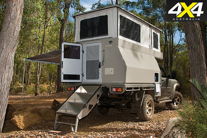 Globatrol Custom Patrol camper rear set up