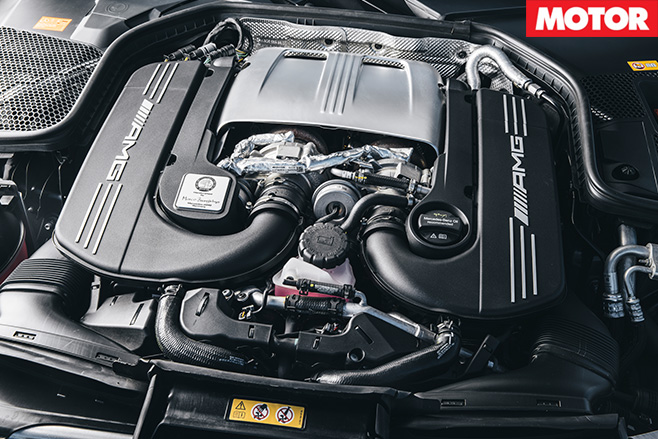 2016 Mercedes-AMG C63 S Coupe engine