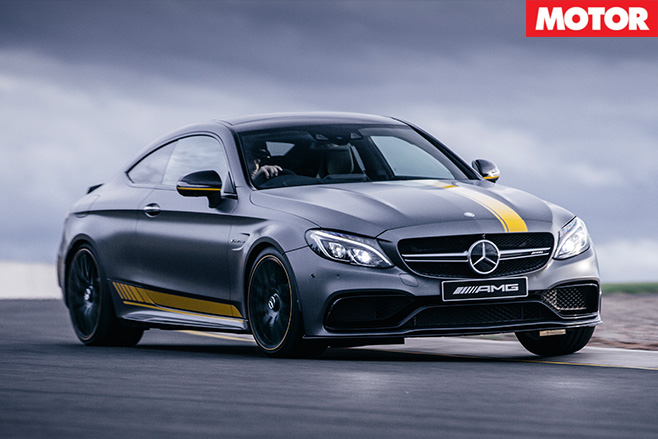 2016 Mercedes-AMG C63 S Coupe turning