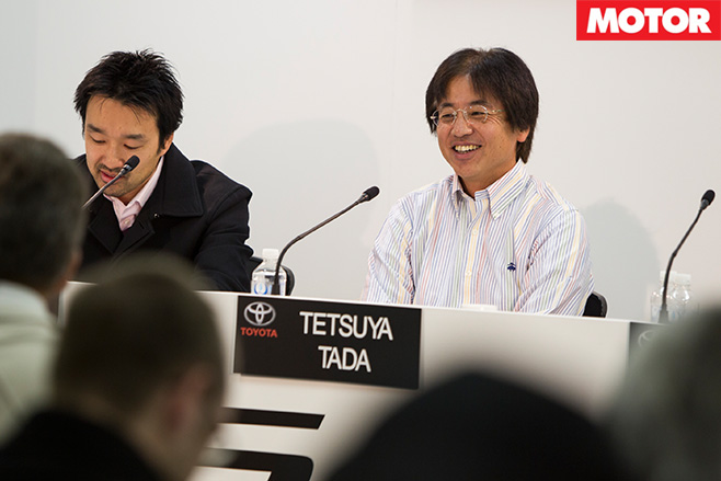 Tetsuya Tada speaking at a conference