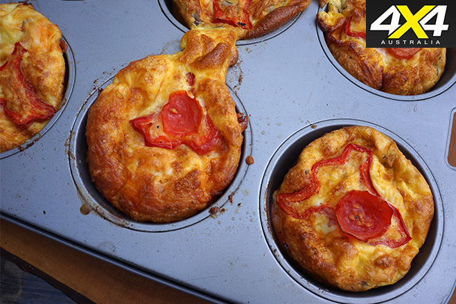 Simple Egg Muffins in cooking tray