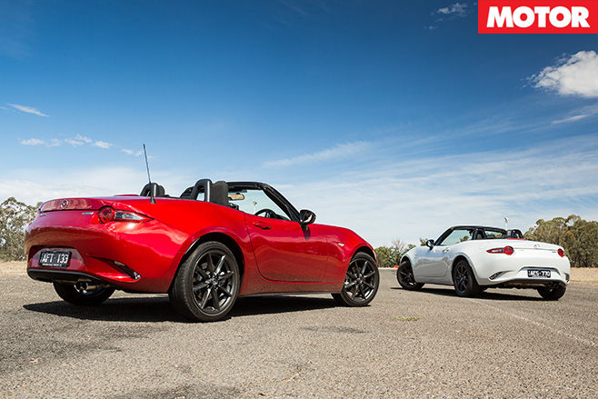 Mazda MX-5 1.5 litre vs 2.0 litre rear