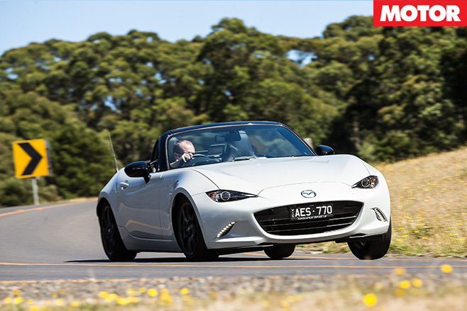 Mazda MX-5 2.0 litre driving front