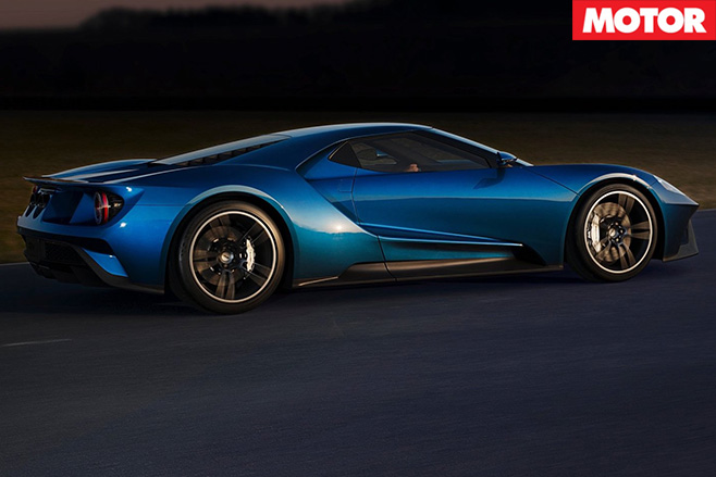 Ford GT driving