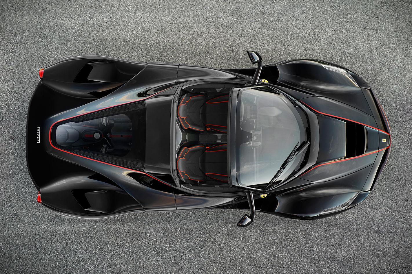 La Ferrari Aperta above