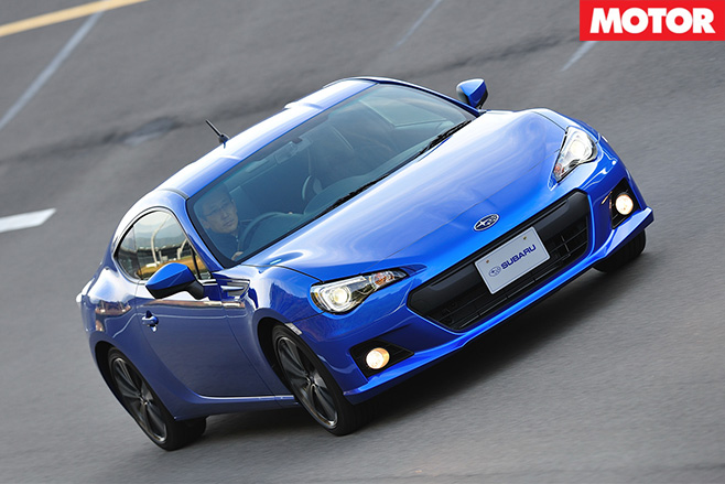 Subaru BRZ driving