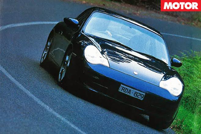 Porsche 911 driving front