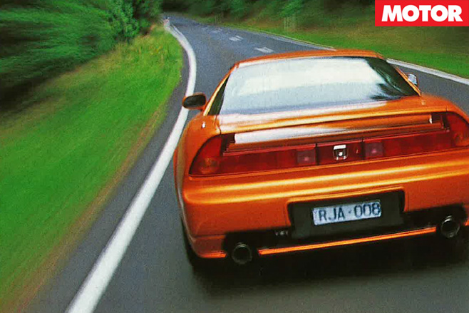 Honda nsx driving rear