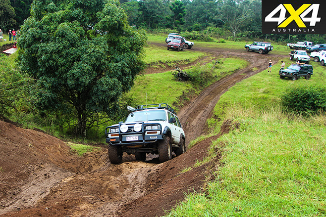 Four-wheel driving offroad