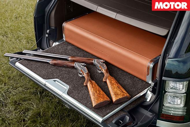 Range rover gun box