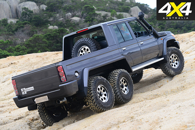 MDT 6x6 landcruiser Scorpian rear
