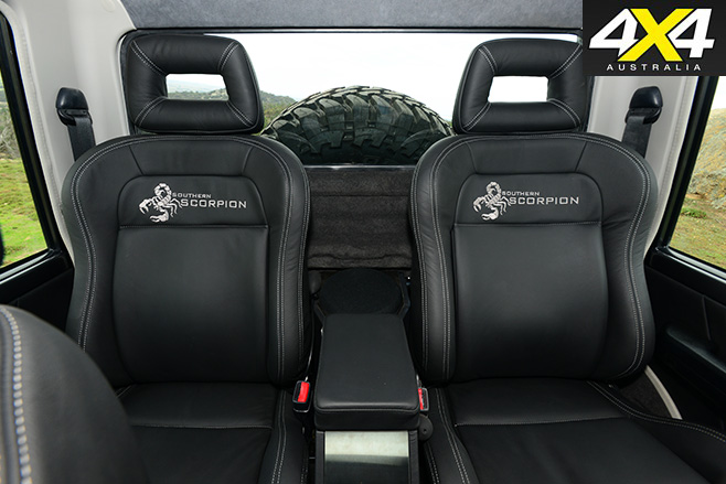 MDT 6x6 landcruiser Scorpian interior
