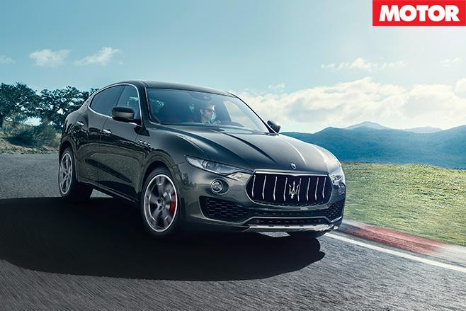 Maserati Levante S driving