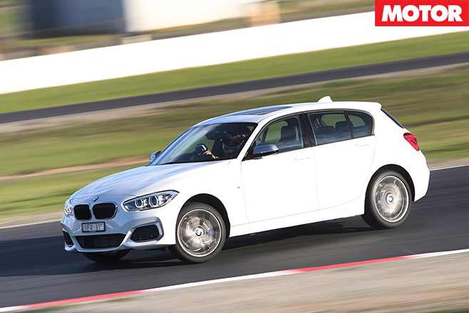 Bmw m135i driving hard