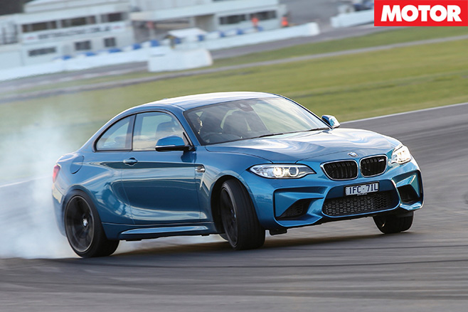 BMW M2 power sliding