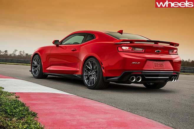 Chevrolet -Camaro -ZL1-driving -rear