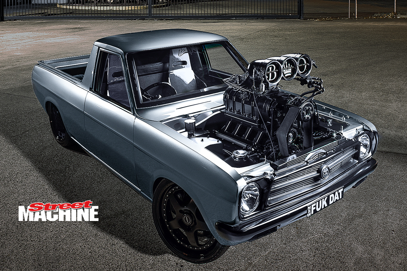 Datsun Ute V8 Blown Burnout