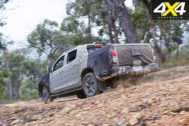2017 Holden Colorado rear driving fast