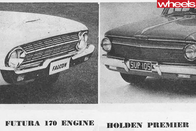 1962-Holden -Premier -sidevs -Ford -Falcon -XL-side