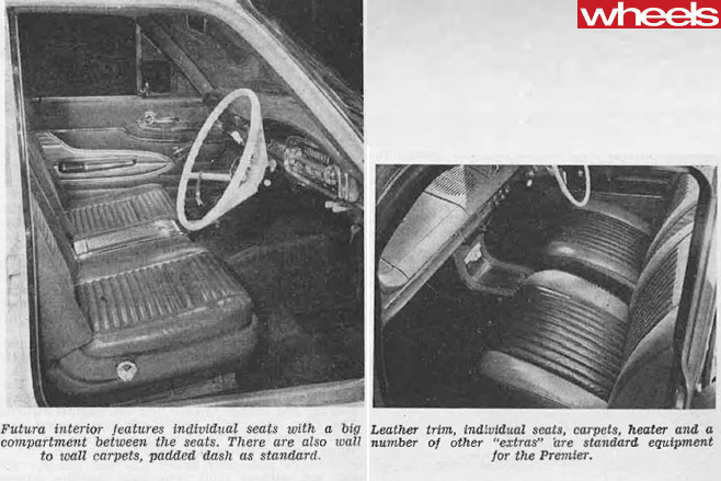 1962-Holden -Premier -interior -vs -Ford -Falcon -XL