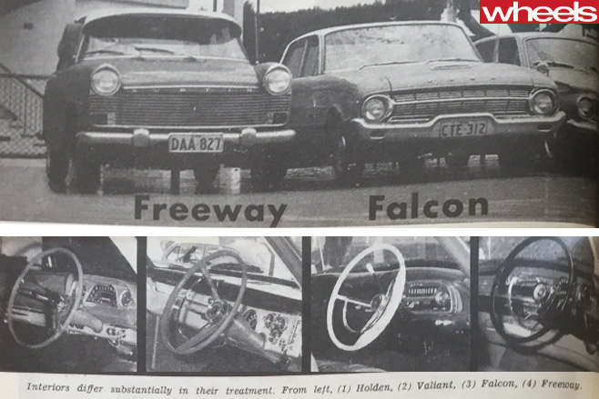Valiant -vs -Austin -vs -Holden -vs -Ford -interiors