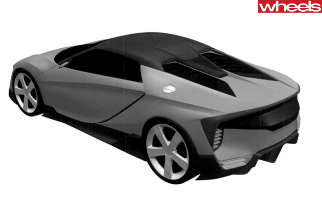 Honda -ZSX-model -trademark -rear -side