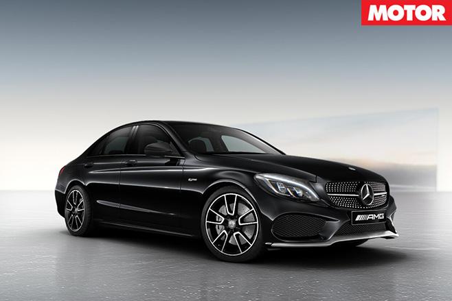 Mercedes-AMG C43 black front