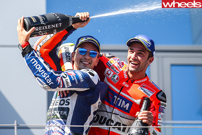 2016-Austrian -Moto GP-champagne -celebration