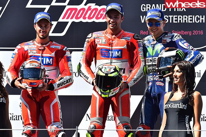 2016-Austrian -Moto GP-podium