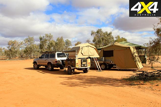 Camping at fort grey