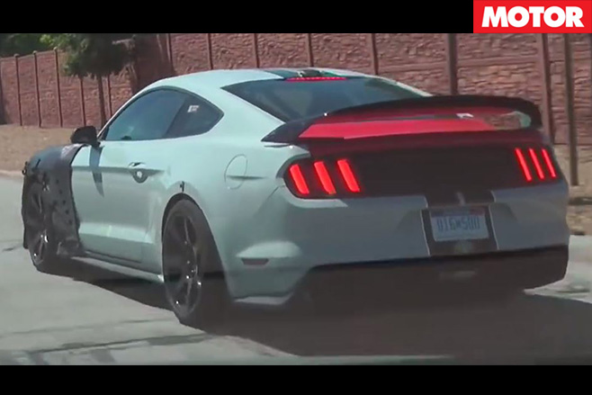 Ford Mustang Shelby GT500 prototype spotted rear