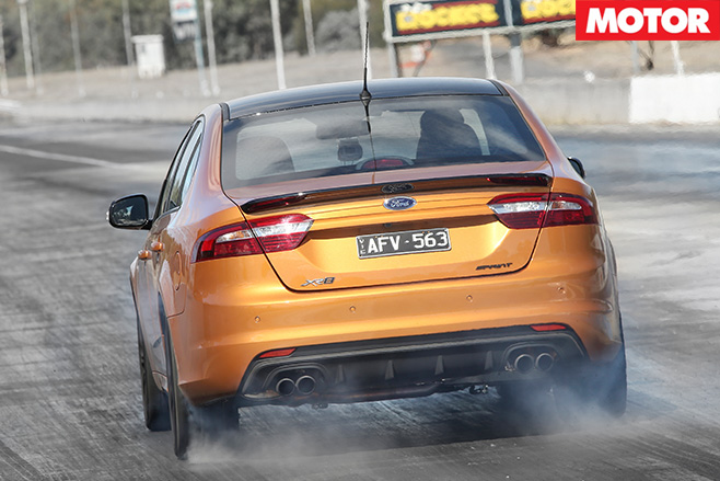 Ford falcon xr8 sprint rear driving