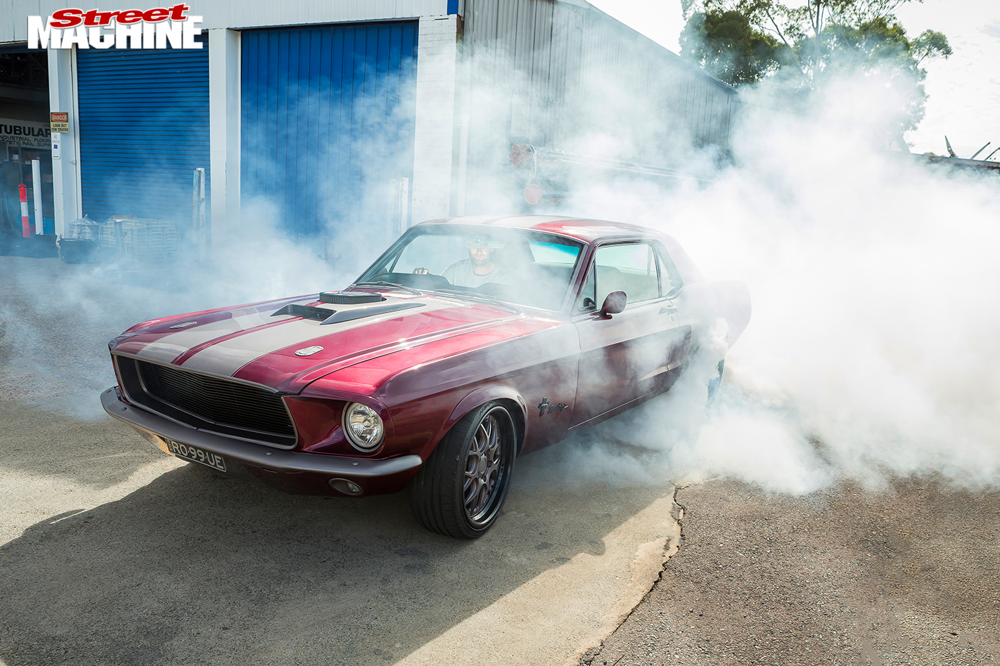 Ford -Mustang -burnout