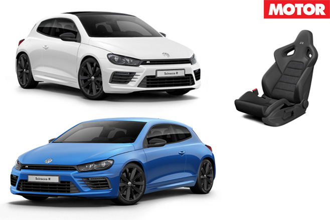 VW Scirocco R details