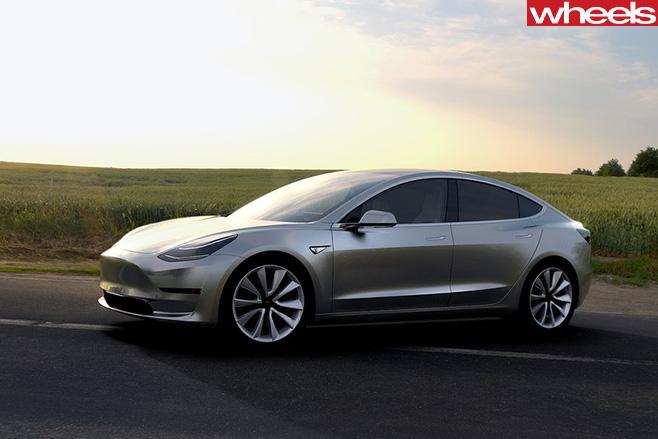 Silver -Tesla -Model -3