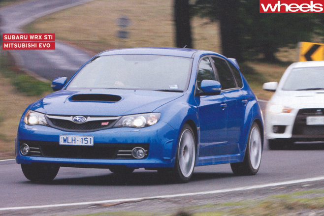 Subaru -WRX-STi -front -driving