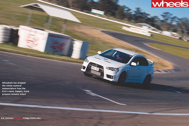 Mitsubishi -Lancer -Evolution -X-driving -around -track