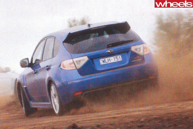Subaru -WRX-STi -driving -rear