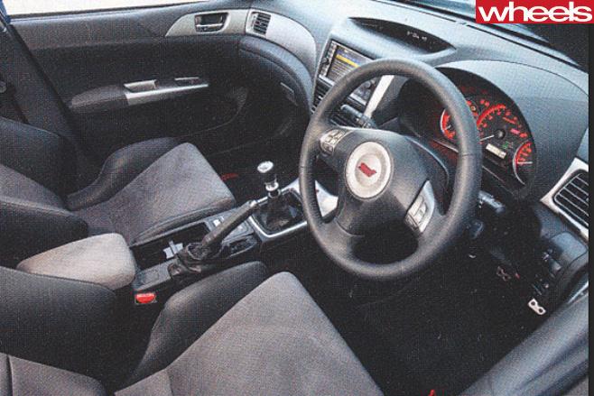Subaru -WRX-STi -interior