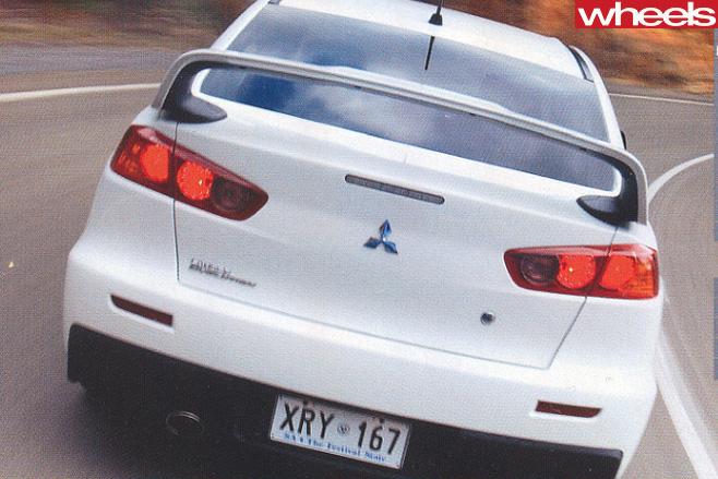 Mitsubishi -Evo -rear