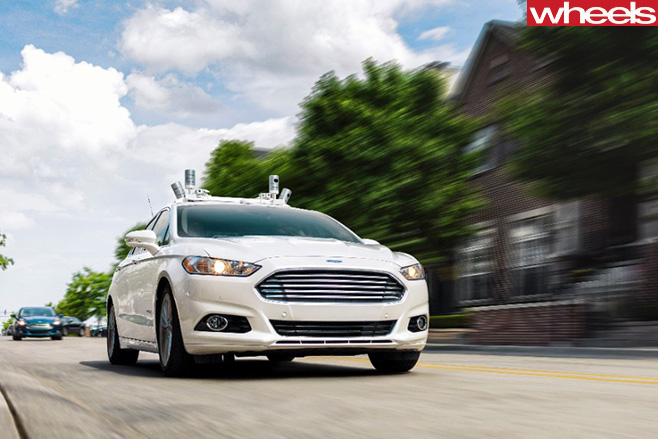 Ford -Fusion -autonomous -vehicle -driving -front -side