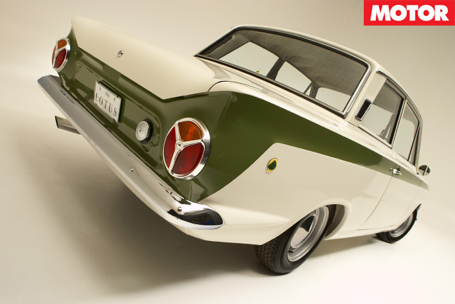 1966-Lotus Cortina rear
