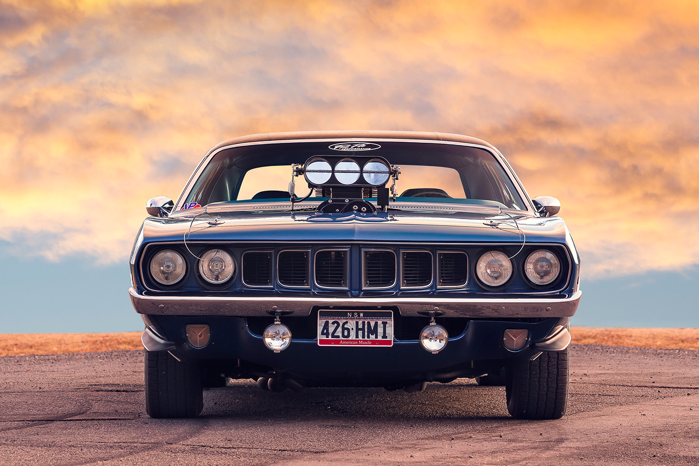 Plymouth -barracuda -front -view