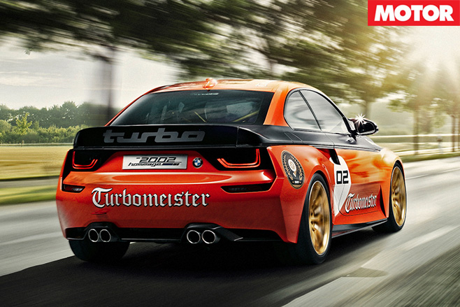 BMW 2002 Hommage racecar rear